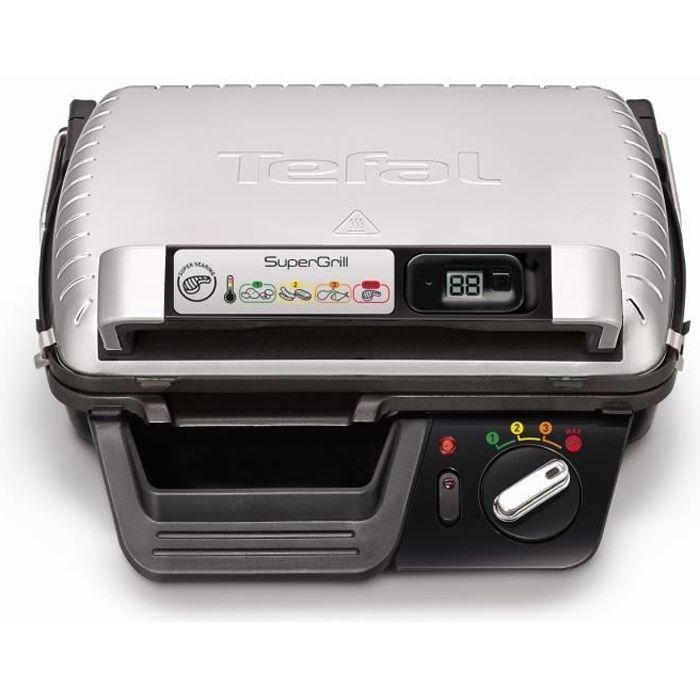 TEFAL GC451B12 Supergrill timer Grille viande - Gris