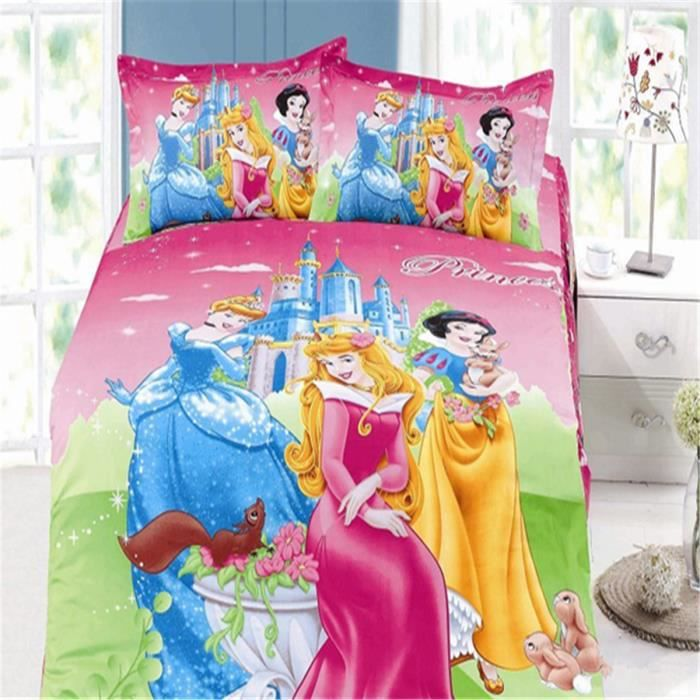 l m parure de lit enfant disney princess 100 coton. Black Bedroom Furniture Sets. Home Design Ideas