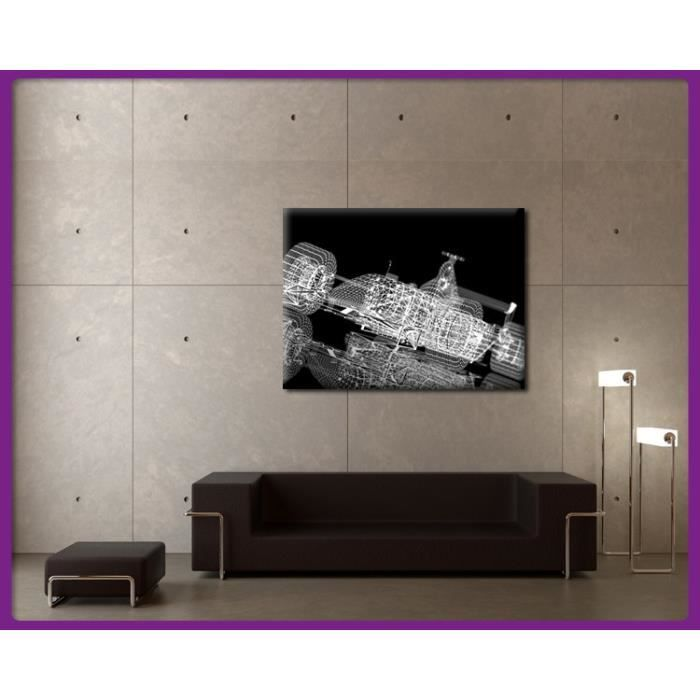 bilderdepot24 impression sur toile bolide voiture de course futuriste 80x60cm achat. Black Bedroom Furniture Sets. Home Design Ideas
