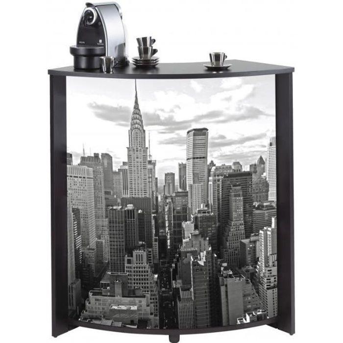 Meuble Comptoir Bar 96 Cm Noir Coloris New York 500 Simmob Meubles D Appoint Sejour Achat Vente Meuble Bar Meuble Comptoir Bar 96 Cm Noir Cdiscount