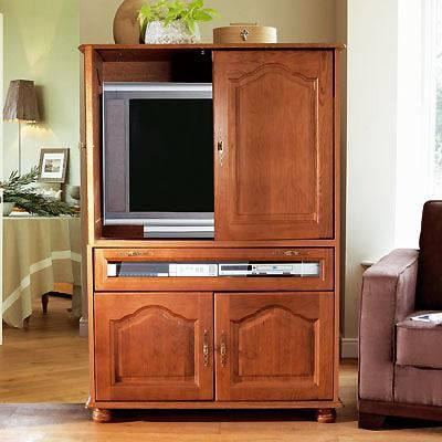 meuble cache tv 4 portes abattant vence achat vente meuble tv meuble cache tv abattant. Black Bedroom Furniture Sets. Home Design Ideas