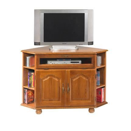 meuble tv d 39 angle ch ne pieds boule achat vente meuble tv meuble tv d 39 angle ch ne pie. Black Bedroom Furniture Sets. Home Design Ideas