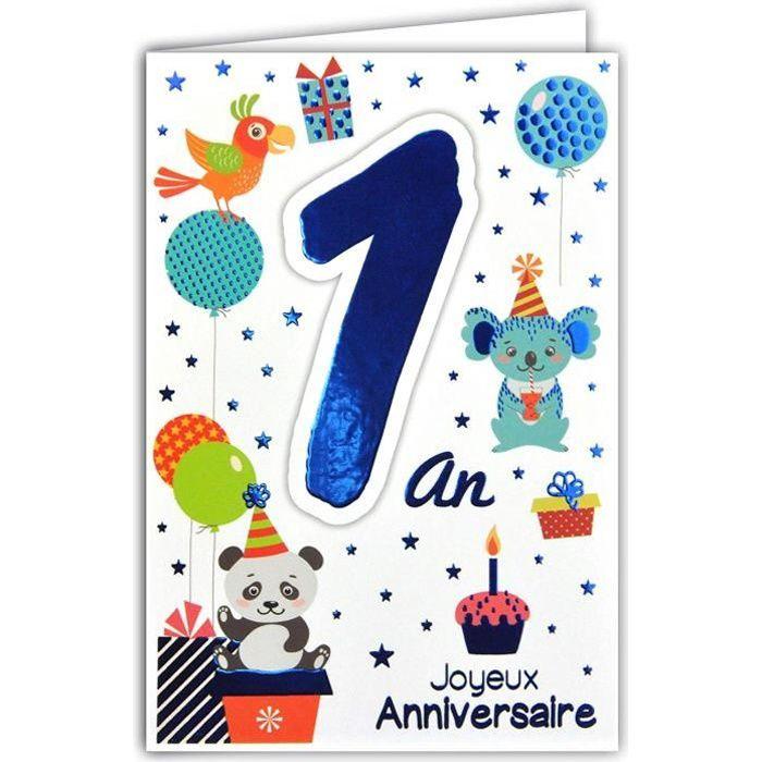 69 2100 Carte Joyeux Anniversaire 1 An Bebe Garcon Fille Herisson Cadeau Montgolfiere Ballon Oiseaux 2233 Achat Vente Ballon Decoratif Cdiscount