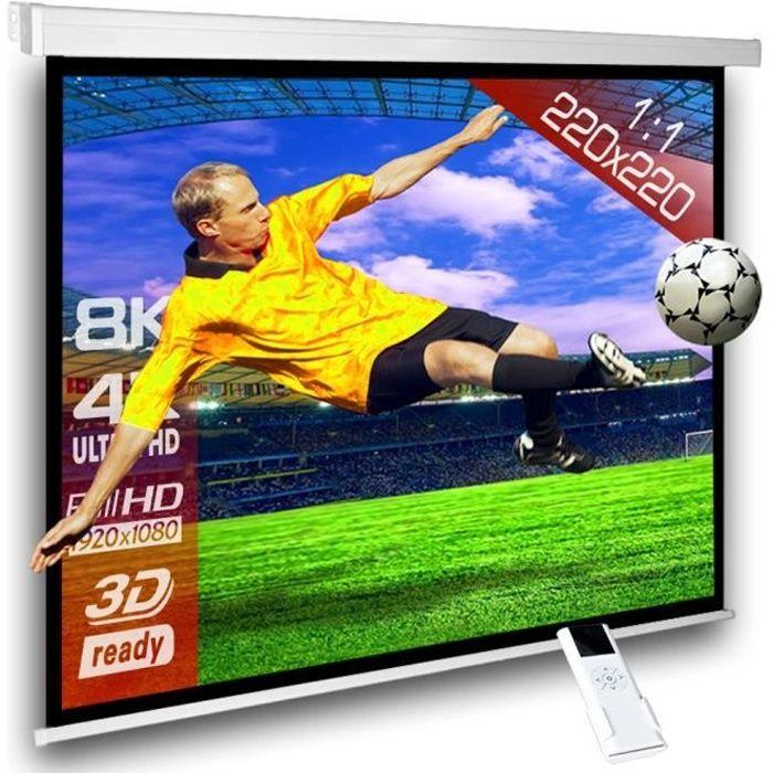/Écran Blanc Opaque 203x152 cm 80x60 Luxburg/® 100 Full HD 3D /Écran de Projection avec Tr/épied