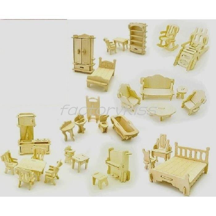 Meubles 3d miniature set mod le kit de construction en - Jeu de construction de maison virtuel ...