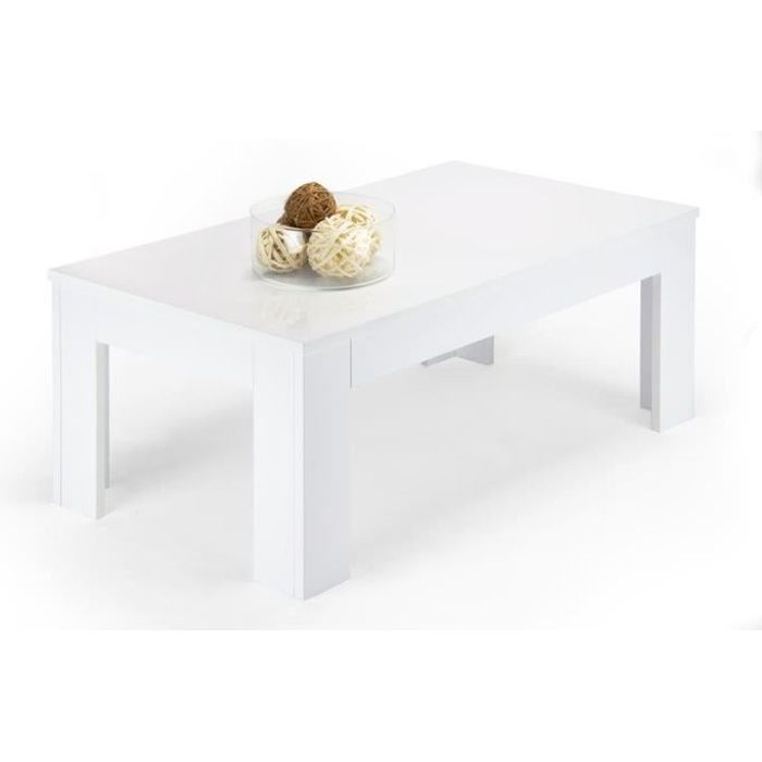 table basse blanc brillant mod easy achat vente table. Black Bedroom Furniture Sets. Home Design Ideas