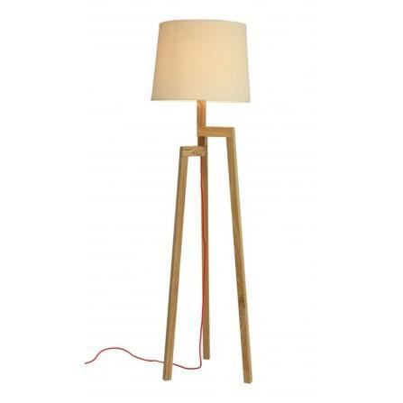 lampadaire design tr pied en bois et abat jour achat. Black Bedroom Furniture Sets. Home Design Ideas
