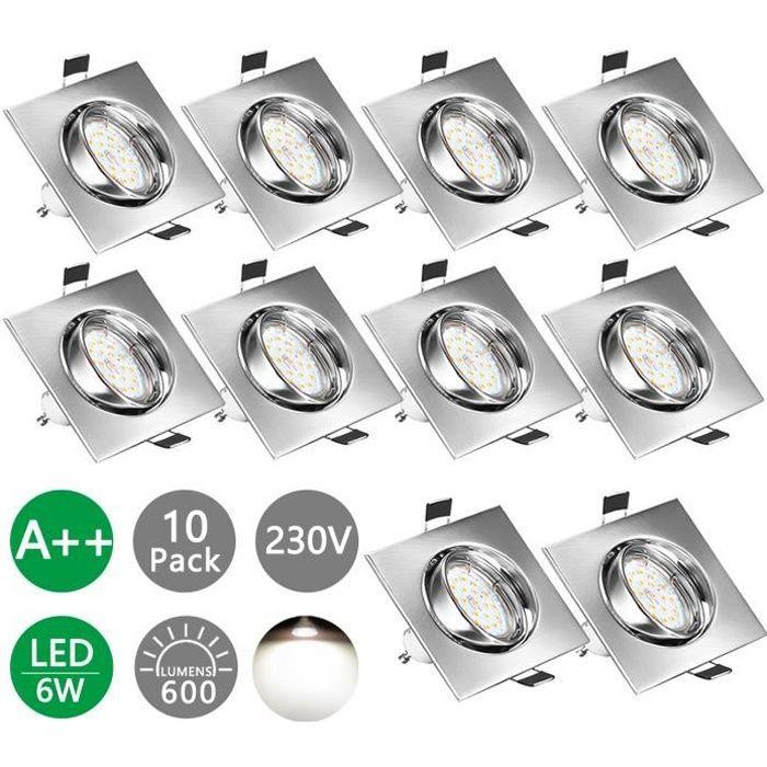 5er Set DEL installation Projecteur Spot Inox Brossé Optique 5 W gu10 230 V