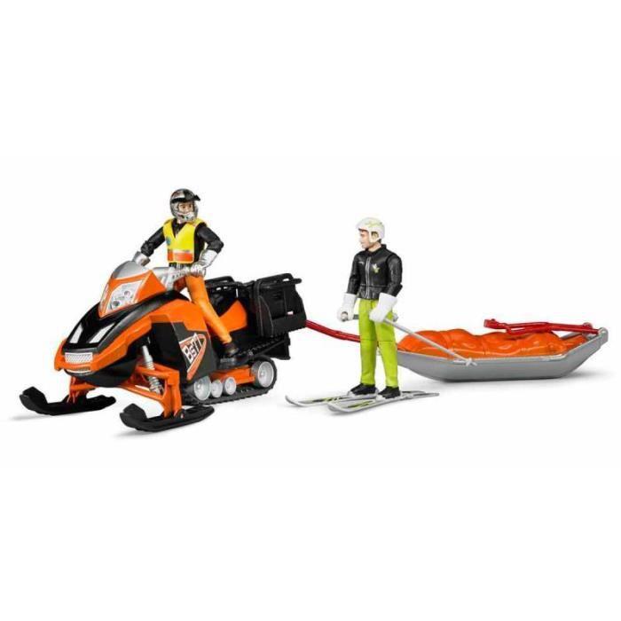 MOTO - SCOOTER BRUDER 63100 Moto neige avec conducteur, traineau
