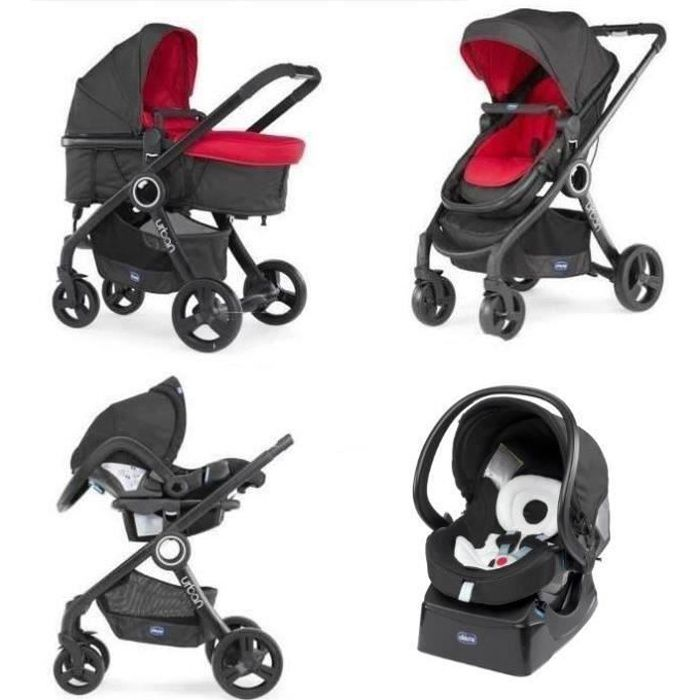 CHICCO Poussette Combinée Trio Pack URBAN PLUS Red Wave Red Wave