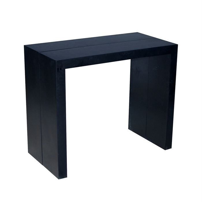 table console extensible finition mate noire achat. Black Bedroom Furniture Sets. Home Design Ideas