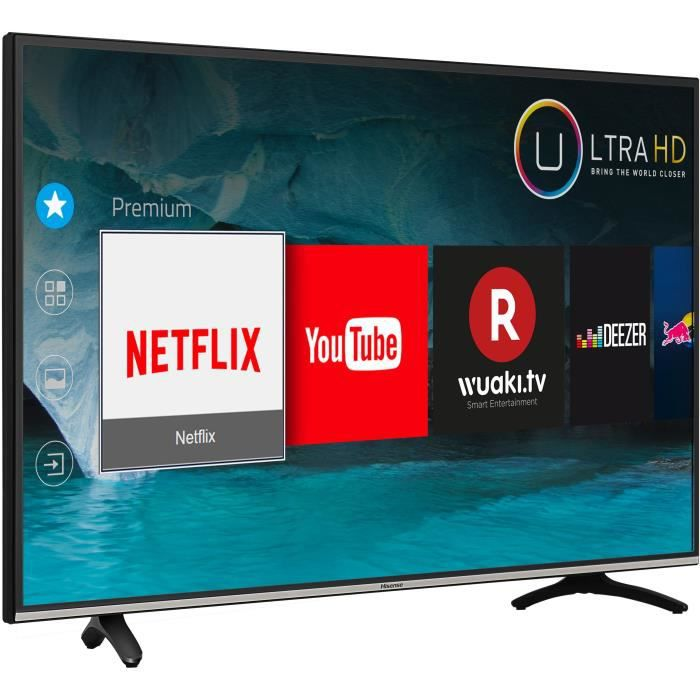 hisense h49m3000 tv led 4k uhd 123 cm 49 smart tv 4. Black Bedroom Furniture Sets. Home Design Ideas