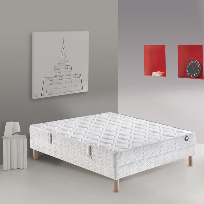 bultex ensemble matelas sommier duby 90x190 cm mousse. Black Bedroom Furniture Sets. Home Design Ideas