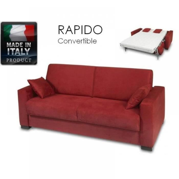 Canap 2 3 places dreamer convertible bordeaux achat vente canap sofa - Canape convertible bordeaux ...