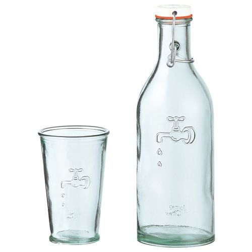 carafe eau avec verre jamie oliver achat vente. Black Bedroom Furniture Sets. Home Design Ideas