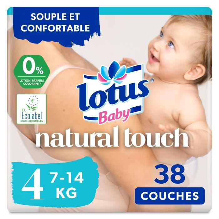 de 4 a 9 kg 44 couches Lotus baby couches touch taille 3
