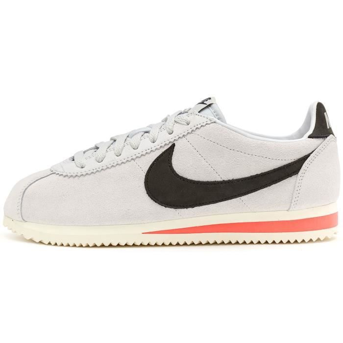 Nike Classic Cortez Leather SE Formateurs Baskets en Off Blanc & Noir  861535 100 [UK 9.5 EU 44.5]