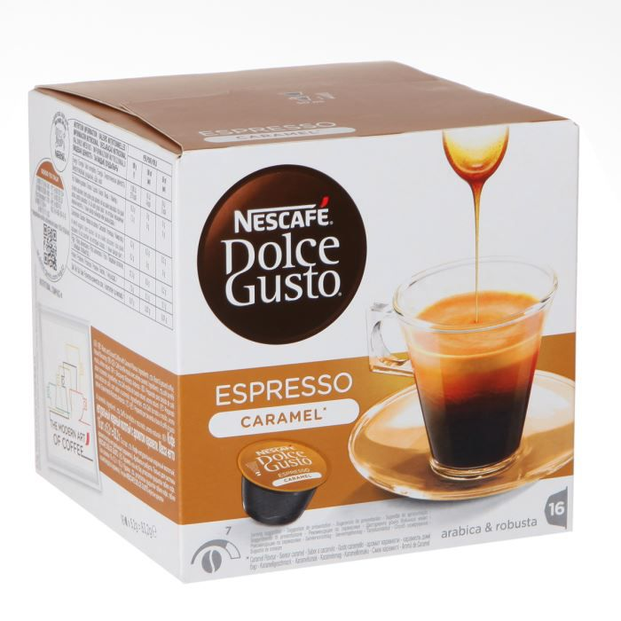dolce gusto espresso caramel 16 capsules 160g achat. Black Bedroom Furniture Sets. Home Design Ideas