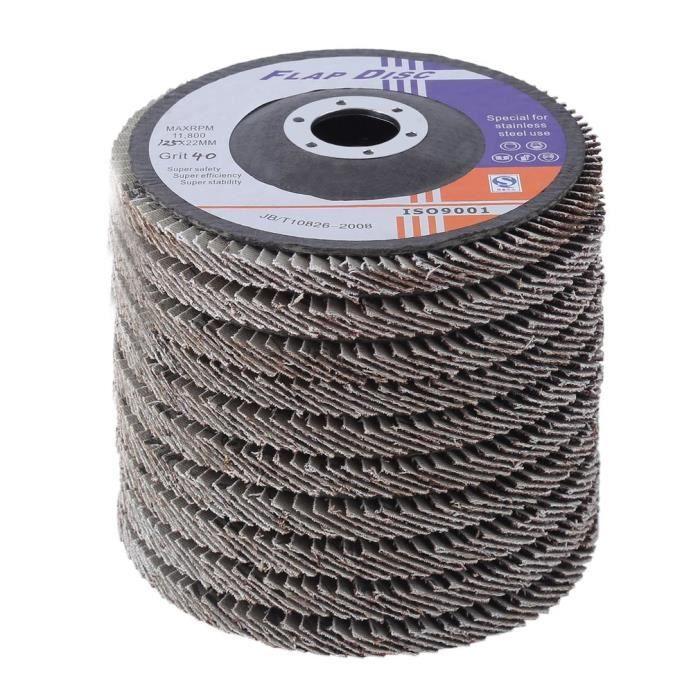 Meules 125 mm ungelocht Velcro meule ponceuse Papier Abrasif//Feuilles p40-1000
