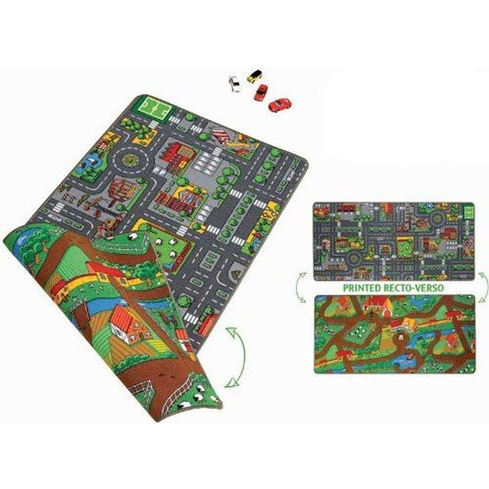 paradiso toys tapis plan ville double face 80x 120 achat. Black Bedroom Furniture Sets. Home Design Ideas