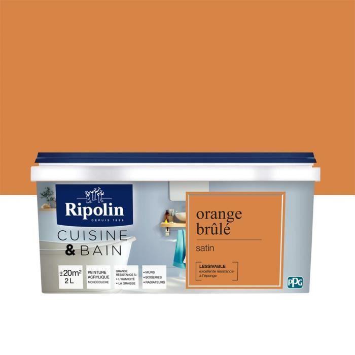 Ripolin Peinture Murale Spéciale Cuisine Bain Orange
