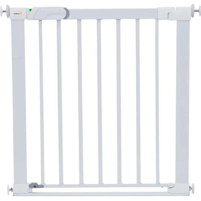 Photo de safety-1st-barriere-de-securite-enfant-flat-step-barriere-metal-blanc