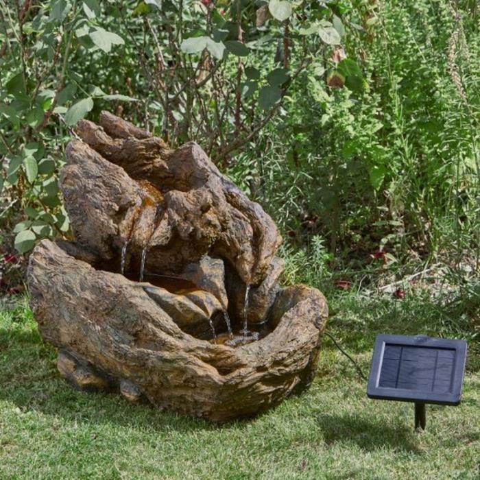 Fontaine solaire cascade Wychwood