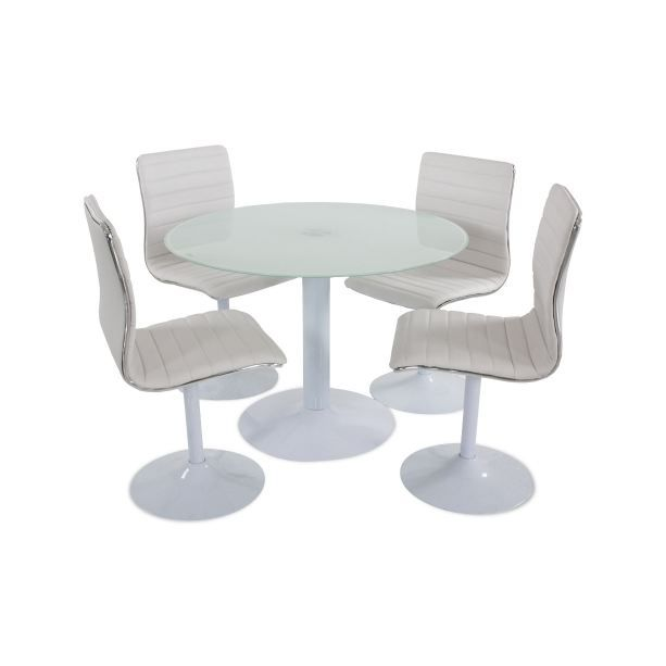 Table 4 chaises allister achat vente table a manger complet table 4 c - Table ronde 4 chaises ...