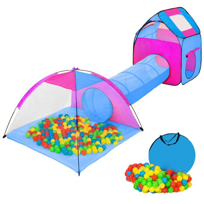 TENTE TUNNEL D'ACTIVITÉ TECTAKE Tente Enfant Tunnel de Jeux + 200 Balles B