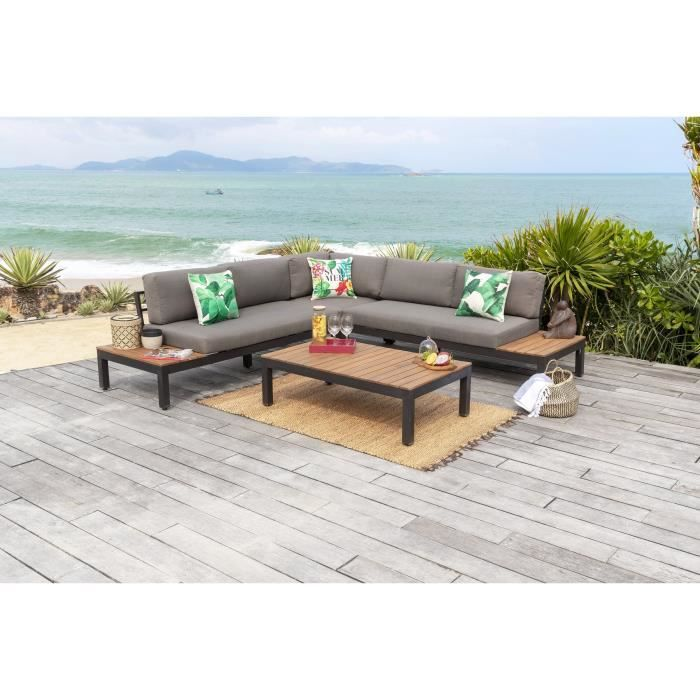 salon de jardin bois massif achat vente salon de. Black Bedroom Furniture Sets. Home Design Ideas