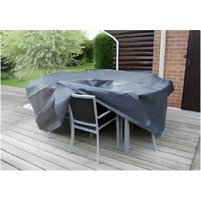 Housse de protection Ø 205 x H 90 cm pour salon de jardin rond - UBBINK