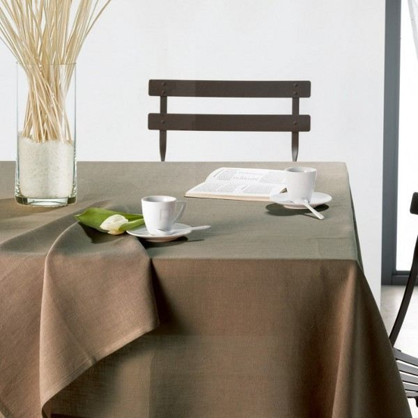 Nappe carr e lin gris falaise air 150 x 150 achat for Table carree 150 x 150