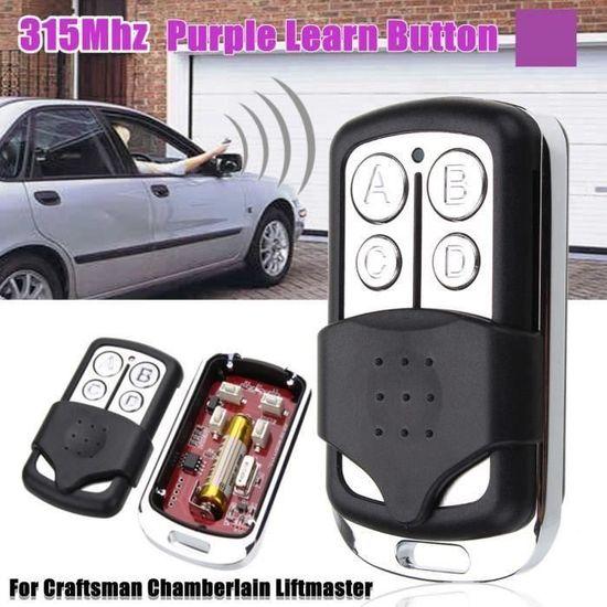 315 MHz 1 Pour Chamberlain 373 LM 4 bouton porte de garage Télécommande