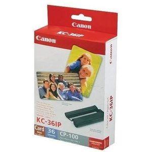 CARTOUCHE IMPRIMANTE CANON kit encre+papier KC-36IP - format carte de c