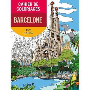 LIVRE JEUX ACTIVITÉS Cahier de coloriages Barcelone petit format