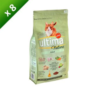 ULTIMA Nature Croquettes au poulet - Pour chat adulte - (x8)