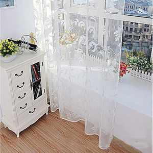 RIDEAU Mode Fleur rideau fil pour Chambre rustique Sheer