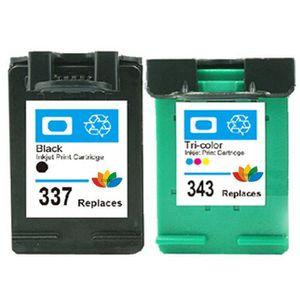 CARTOUCHE IMPRIMANTE 2pk Compatible hp337 343 cartouche d'encre noir /