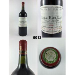 VIN ROUGE Château Haut-Bailly (Magnum) 1986 - N° : 5012