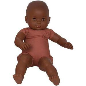 POUPON Poupon au corps souple, en tissu. Type Africain. H