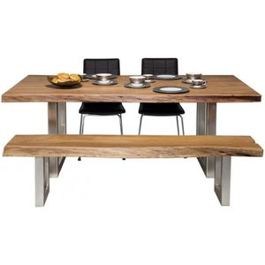 TABLE À MANGER SEULE Table en bois Nature Line 195x100 Kare Design