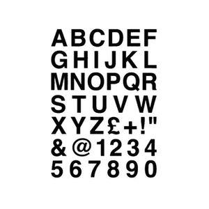 1 X Set De A-Z Argent Capital /& petites lettres Vinyle Autocollants taille 100 mm