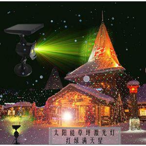 PROJECTEUR LASER NOËL Lumière laser solaire à gazon rouge et vert 4 mode