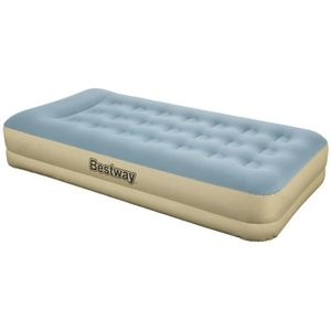 LIT GONFLABLE - AIRBED FORTECH REFINED Matelas gonflable bleu et beige 97