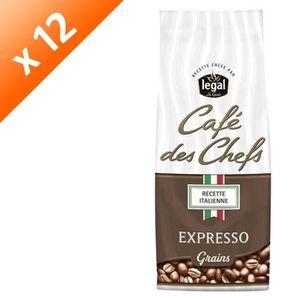 CAFÉ LEGAL Lot de 12 Cafés des Chefs Expresso Recette I
