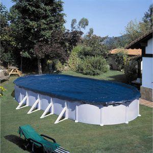 BÂCHE - COUVERTURE  GRE Bâche hivernage pour piscine ovale 1000x550 cm