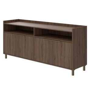 BUFFET - BAHUT  GABY Buffet Bas décor bois - 4 portes - L 178 cm