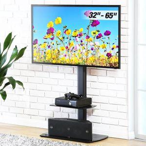 FIXATION - SUPPORT TV FITUEYES Meuble TV avec Support Télé Pied Suspendu