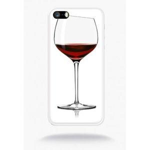 coque verre de vin compatible apple iphone 5s sili