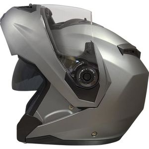 CASQUE MOTO SCOOTER Casque Modulable DS Gris